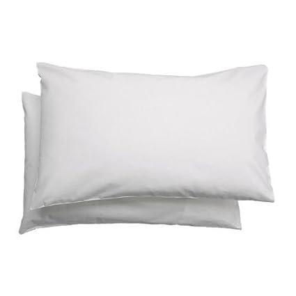 Ikea Federe Cuscini Letto.Ikea Len Federa Cuscino Per Bambini 35 X 55 Cm 100 Cotone Colore Bianco Confezione Da 2