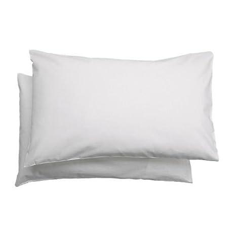Set De 2 Taies D Oreiller Ikea Len Pour Enfant 100 Coton Blanc 35 X 55 Cm