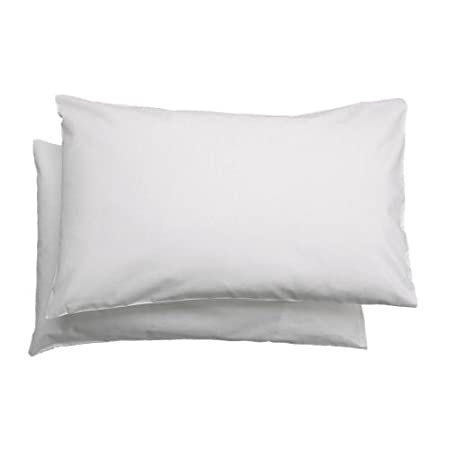 Federa cuscino per bambini Ikea Len colore: bianco confezione da 2 35 x 55 cm 100/% cotone