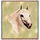 Arabian Horse Woven Lap Square (Throw Blanket)