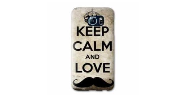 Amazon.com: Case Carcasa LG K4 Keep Calm - - Moustache B ...