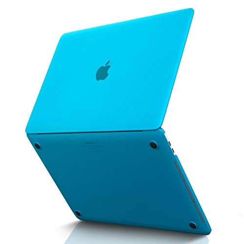 MacBook Pro 15 inch Case 2019 2018 2017 2016 Release A1990 A1707, Kuzy Hard Plastic Shell Cover for Newest MacBook Pro 15 case with Touch Bar Soft Touch - Aqua