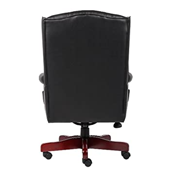 Boss Office Products B800-BK Wingback Traditional Chair in Black