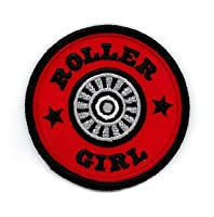 Enginehouse 13 - Kick Ass Stylized Skate Wheel Roller Girl Patch Embroidered...