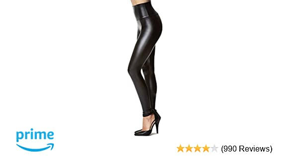 fd2aeea033bd67 Amazon.com: Women's Stretchy Faux Leather Leggings Pants, Sexy Black High  Waisted Tights: Clothing