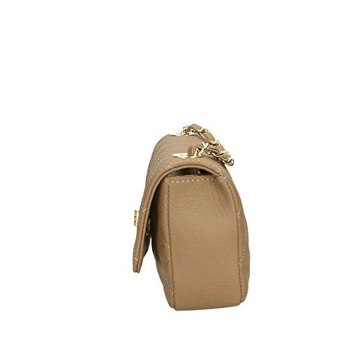 genuino Made Italy Cm de Mujer bolsa in 19x12x5 cuero Aren hombro Barro en S6nFYwHq0x