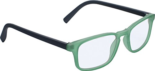 True Gear iShield Anti Reflective Computer Glasses Block Blue Light and Harmfull UV with Clear Lens for Kids and Teens - Rectangle Frame- Rectangle Frame - Green with 2 in - Glasses Light Reflective Blue