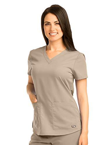 (Grey's Anatomy 71166 V-Neck Top New Khaki 4XL)