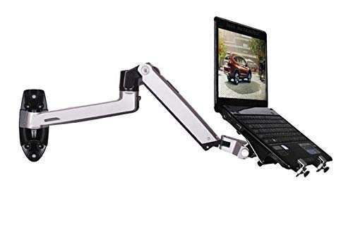 Aluminum Alloy Mechanical Spring Arm Wall Mount Laptop Holder Full Motion Laptop Mount Arm Monitor Holder Laptop Stand