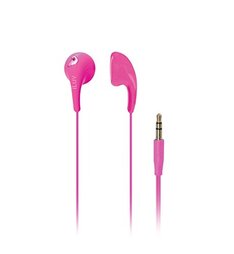 iLuv iEP205PNK Bubble Gum 2 Flexible, Jelly-Type Stereo Earphones - Pink (Stereo Pink)