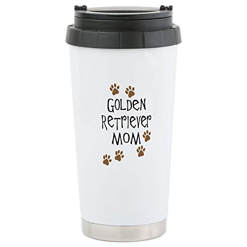 (CafePress Golden Retriever Mom Stainless Steel Travel Mug Stainless Steel Travel Mug, Insulated 16 oz. Coffee)