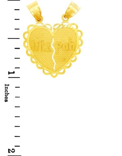 10 ct 471/1000 Charme Juive - Or Mizpa Juive Pendentif