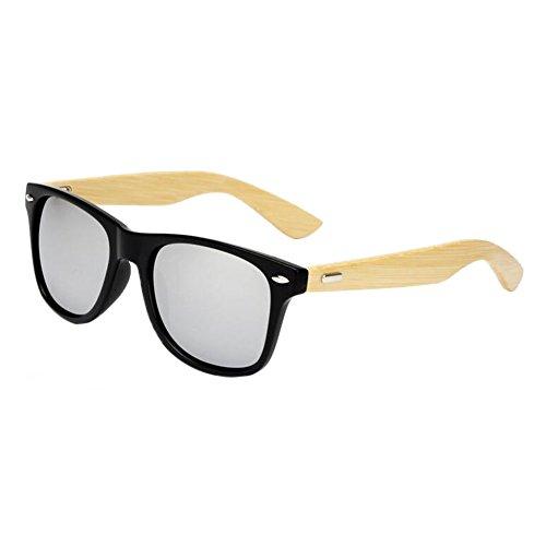 protection Bambou Eyewear Bois Femmes Cru Lunettes lunettes Glare Des Anti Meijunter Hommes Arms Argent de soleil UV400 de 6Yqgwx