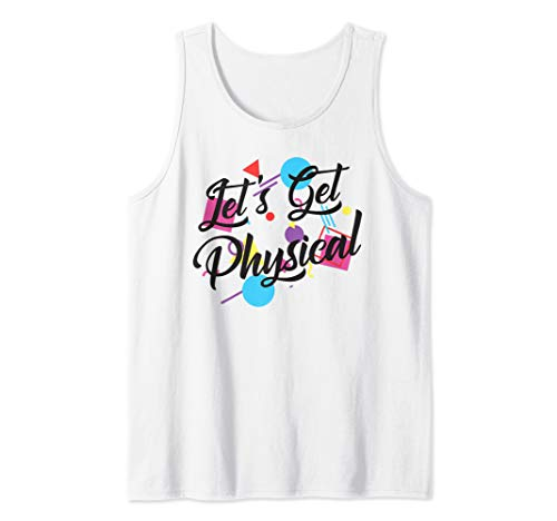 Let's Get Physical 80's Exercise Tank Top for Men or Women, S to 2XL