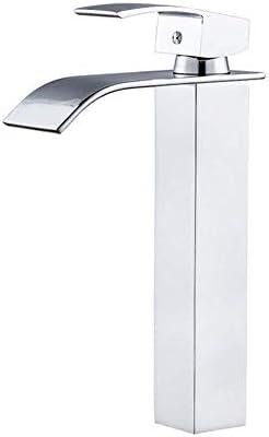 飲料水フィルタータップキッチンシンクミキサータップ360度回転スパウト滝クロムメッキ真鍮製本体シングルレバー温水と冷水キッチンタップ浴室設備