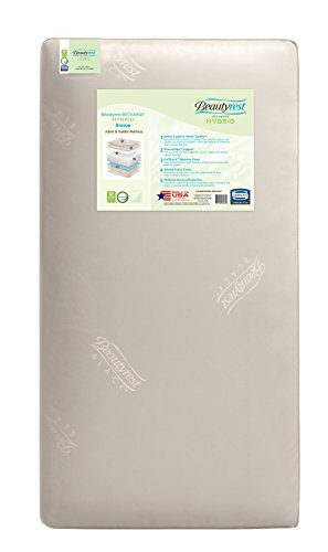 Beautyrest Recharge Hybrid Breeze Innerspring/Foam Crib and Toddler Mattress | Waterproof | GREENGUARD Gold Certified (Natural/Non-Toxic)