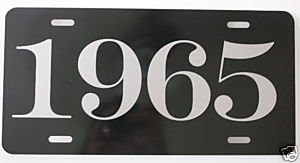 (1965 YEAR LICENSE PLATE )