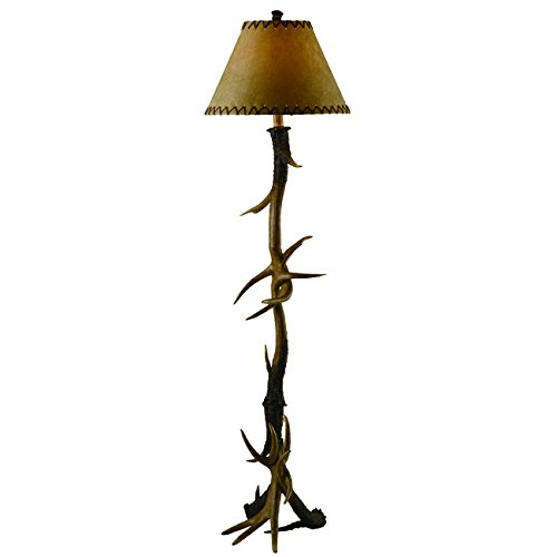 BLACK FOREST DECOR Trophy Antler Floor Lamp - Cabin Lighting