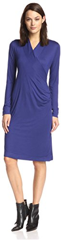 James & Erin Women's Faux-Wrap Dress