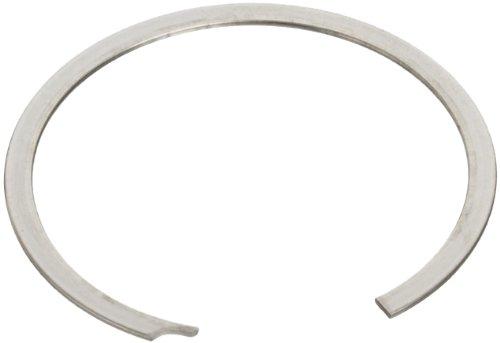 Standard External Retaining Ring, Spiral, Axial Assembly, 1070-1090 Carbon Steel, Plain Finish, 49/64' Shaft Diameter, 0.042'...