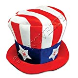 Light up Uncle Sam Hat Costume Hat for Kids and Adults