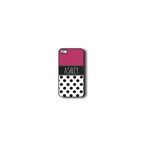 Krezy Case Monogram iphone 4 Case, Colorful Chevron Pattern with polka dots Monogram iphone 4 Case, Monogram iphone...