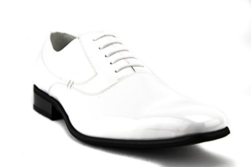 Delli Aldo Mens 19121 Classic Balmoral Lace Up Casual Dress Oxford Shoes White 9jPha3CfQv