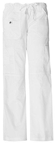 - Dickies Women's Low Rise Drawstring Cargo Pant_White_X-Large,857455