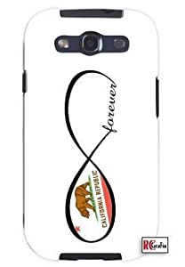 Cool Painting Forever California Republic State Infinity Flag Unique Quality Soft Rubber Case for Samsung Galaxy S4 I9500 - White Case