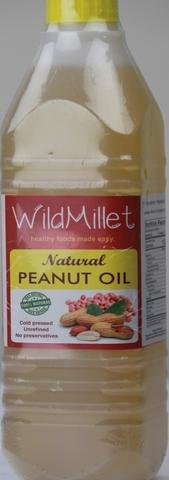 Natural Cold Wooden Rotary Pressed Peanut Oil - 1 Lit - No Preservatives - Unrefined