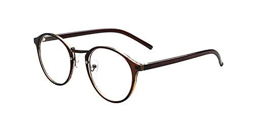 Brown New Fashion Retro Vintage Round Circle Frame Eyeglasses Clear Lens Eye - Sale Glasses For Hipster
