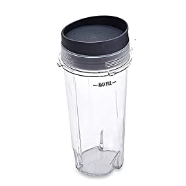Noa Store Ninja Ultima & Professional Series Nutri Blender Cup - 16 oz Single Serve To Go Cup with Lid / 3 inch Diameter 5 Ninja Four Tab Single Serve To Go Cup 16 ounce with Lid 3 INCH DIAMETER *DOES NOT fit Auto IQ series or 900 watt systems. Cup is the Small diameter that measures 3 inches Authentic Cup/Lid Replacement for the Ninja Ultima Blender BL810 BL820 BL770 BL771 BL772 BL780 BL730 BL740 BL660 BL663.