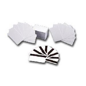 Coercivity Mag Stripe - Zebracard 104523-113 CR-80 Premier PVC Blank with High Coercivity Mag Stripe Card, 30 mil, White (Pack of 500)