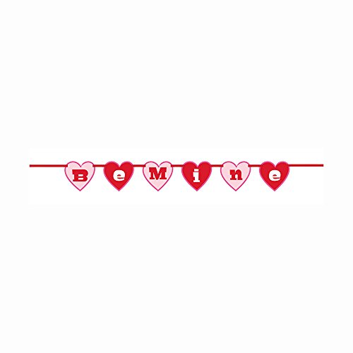 (3.41ft Paper Cutout Be Mine Valentine's Day Garland)