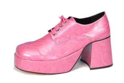 Adult Pink Platform Shoes (Size:Medium 10-11)