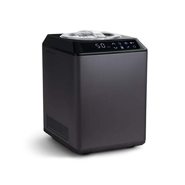 Gelatiera e Yogurtiera ERIKA 2 in 1 con Compressore Autorefrigerante, 250W, 2,5L, Macchina per Gelato & Yogurt… 2 spesavip