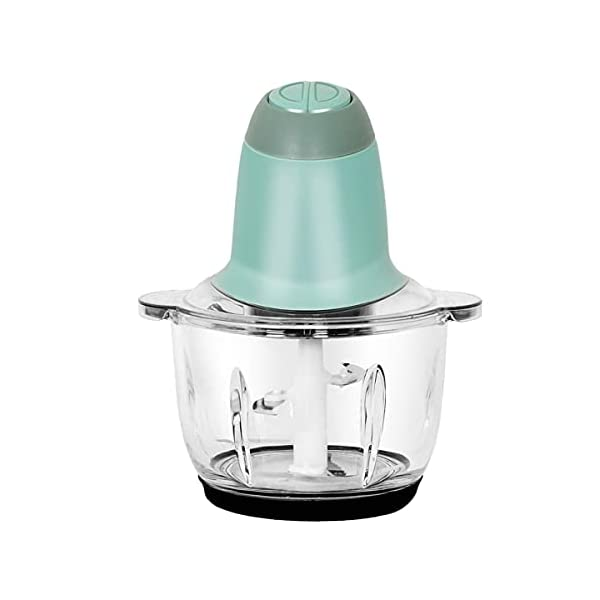 XXSSIER Stainless Steel and Plastic Electric Meat Grinders with Bowl for Kitchen Food Chopper Vegetables Onion Slicer…