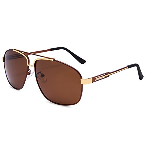 EYEGUARD Classic Aviator Polarized Sunglasses for Men UV400 Protection Metal - Bn Ray