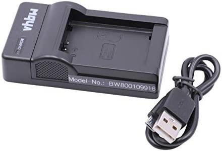 vhbw Micro USB Cargador, Cable de Carga para cámara Samsung NX1000, NX1010, NX200, NX2000, NX2020, NX2030, NX210, NX300, NX300M