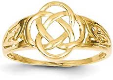 14k Polished Ladies Celtic Knot Ring, 14 kt Yellow Gold, Size 6