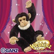Webkinz Chimpanzee - Webkinz Signature Deluxe Plush Figure Chimpanzee