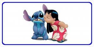 Lilo and Stitch Photo License Plate ()