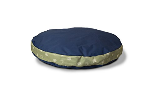 Furhaven Pet Deluxe Indoor/Outdoor Dog Pillow, 40-inch Round, Navy Blue