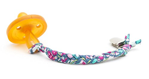 Madelines Box Original Softy Braided Pacifier Clip, Hand-Made in USA, Universal - Keep Any Pacifier, Teether, Or Toy Off The Dirty Ground, Perfect Length 8, Stylish and Sturdy (Softy Delphinium)