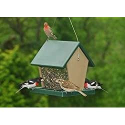 Recycled Plastic Large Hopper Bird Feeder - 2.5 Quarts of Seed