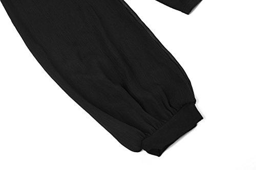 Beauty7 Camisetas Apretado Mujer Off Hombro con Tirantes Mangas Larga Cuerda Ajustable Camisas Blusas T Shirt Tops Tee Parte Superior Casual Ocasional Ropas
