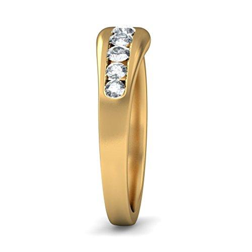 Or jaune 18K, 0,22carat Diamant Blanc (IJ | SI) en diamant