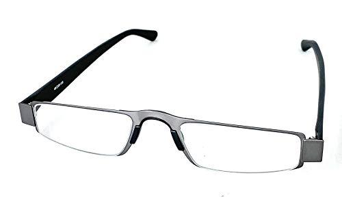 (I-Mag Executive Slim Metal Reading Glasses with Slide Open Hard Case (2.50, Grey))