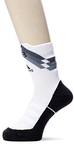 責めるギャラリー良さ(アディダス) adidas サッカーウェア 【ドイツ代表】ALPHASKIN ハーフクッション クルーソックス DUG03 [ユニセックス] DUG03 CF4930 ブラック/ホワイト (CF4930) 26-28cm