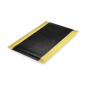 Floor Mat, Anti-Fatigue, Black/Yellow by Notrax